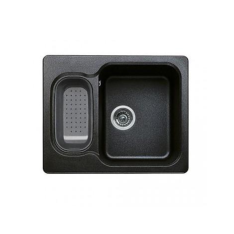 1510857 nova 6 antracite blanco lavello 62x50 2 vasche senza sgocciolatoio silgranit