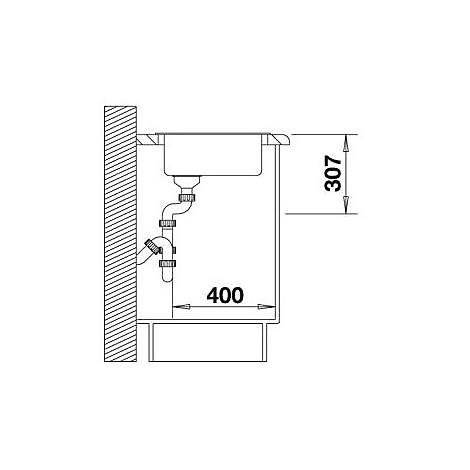 1511623 rondo jasmine blanco lavello diametro 43 1 vasca circolare silgranit sopratop