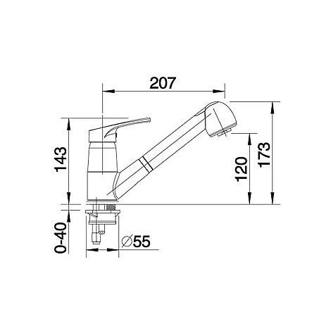 1512042 wega-s blanco miscelatore sabbia silgranit