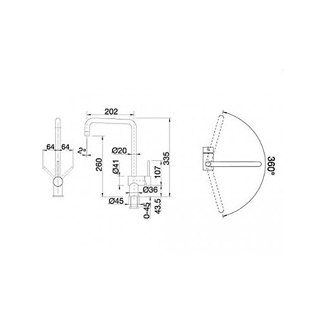 1512322 finess cromato blanco miscelatore