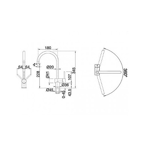 1512324 filo cromato blanco miscelatore