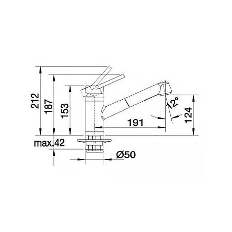 1512919 actis-s blanco miscelatore alumetallic silgranit