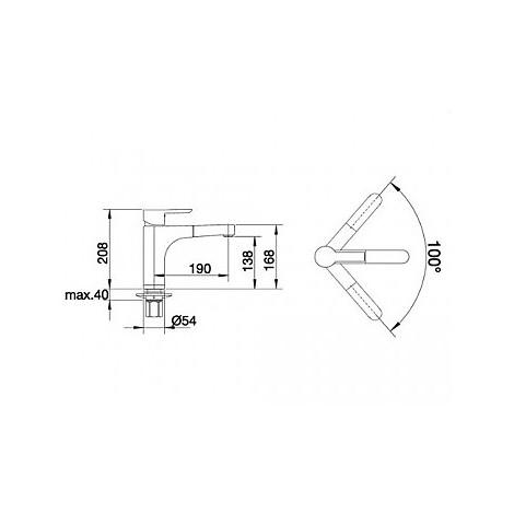 1512984 pylos-s blanco miscelatore antracite/cromato