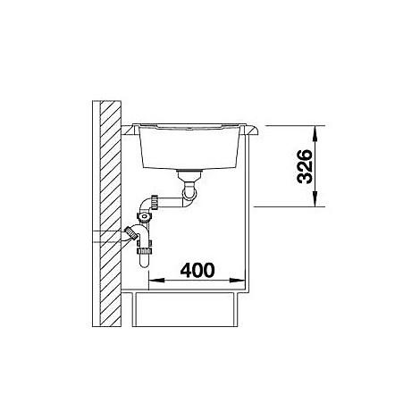 1513064 metra 8 s bianco blanco lavello 116x50 2 vasche reversibile silgranit