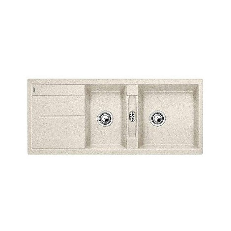 1513066 metra 8 s sabbia blanco lavello 116x50 2 vasche reversibile silgranit