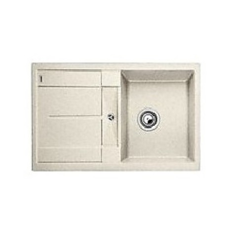 1513189 metra 45 s sabbia blanco lavello 78x50 1 vasca reversibile silgranit
