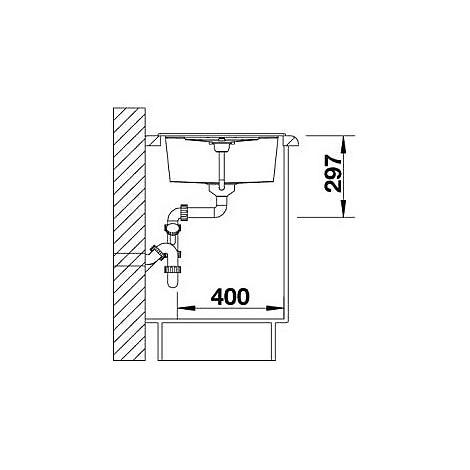 1513194 metra 45 s antracite blanco lavello 78x50 1 vasca reversibile silgranit