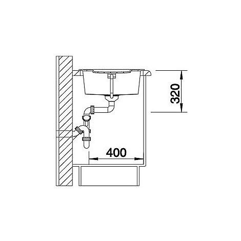 1513204 metra 5 s alumetallic blanco lavello 86x50 1 vasca reversibile silgranit