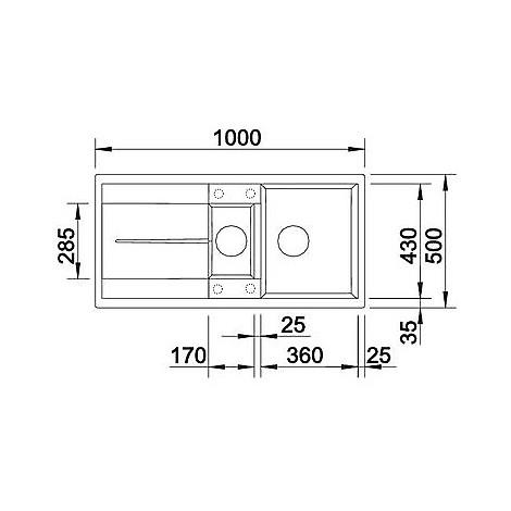 1513225 metra 6 s sabbia blanco lavello 100x50 2 vasche reversibile silgranit