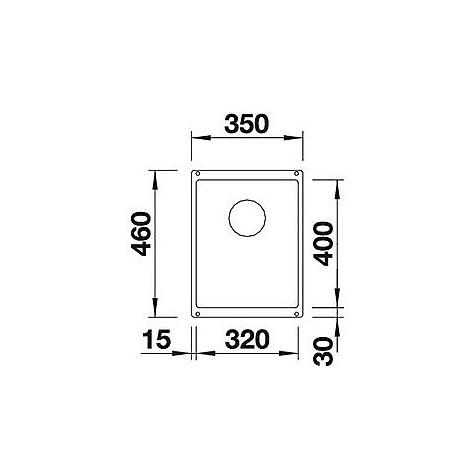 1513406 subline 320-u blanco lavello 35x46 1 vasca senza sgocciolatoio silgranit antracite