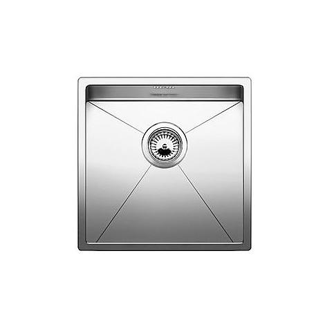 1513513 clarox 400-if blanco lavello 44x44 1 vasca senza sgocciolatoio inox satinato