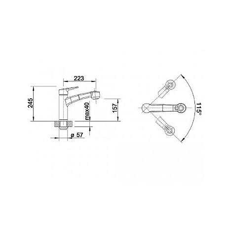 1513711 merkur-s cromato blanco miscelatore