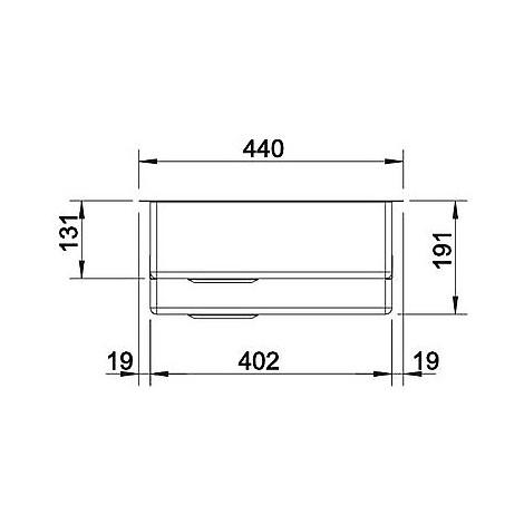 1513856 clarox 340/180-if blanco lavello 59x44 2 vasche senza sgocciolatoio inox satinato