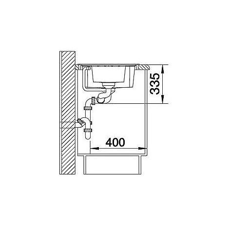 1514677 lexa 6 s alumetallic blanco lavello 100x50 2 vasche reversibile silgranit