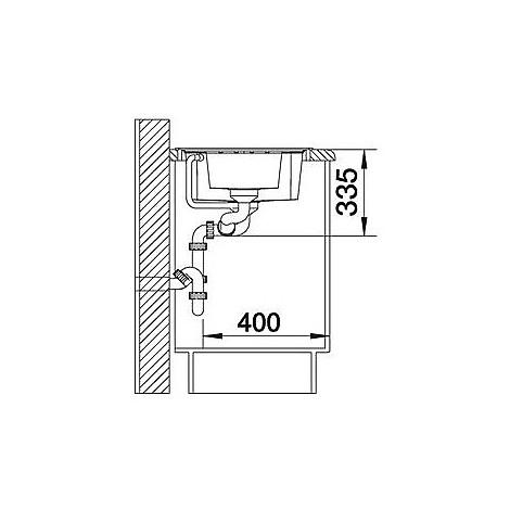 1514678 lexa 6 s bianco blanco lavello 100x50 2 vasche reversibile silgranit