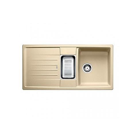 1514680 lexa 6 s champagne blanco lavello 100x50 2 vasche reversibile silgranit