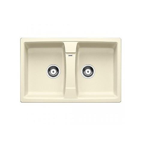 1514695 lexa 8 jasmine blanco lavello 78x50 2 vasche senza sgocciolatoio silgranit