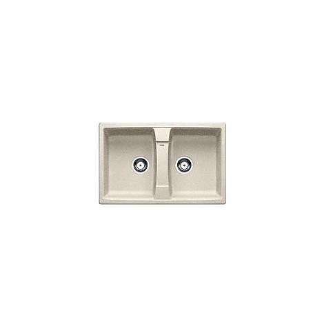 1514697 lexa 8 sabbia blanco lavello 78x50 2 vasche senza sgocciolatoio silgranit