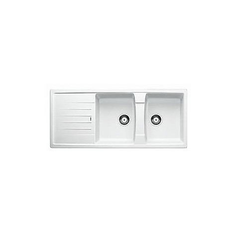 1514710 lexa 8 s bianco blanco lavello 116x50 2 vasche reversibile silgranit