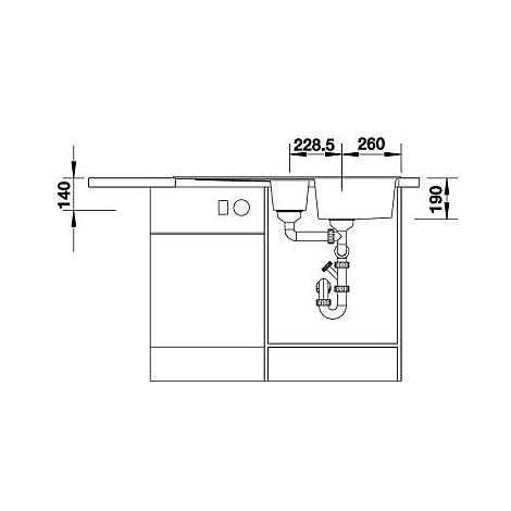 1514741 zia 6 s alumetallic blanco lavello 100x50 2 vasche reversibile silgranit sopratop