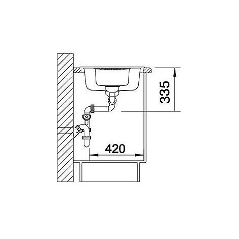 1514742 zia 6 s bianco blanco lavello 100x50 2 vasche reversibile silgranit sopratop