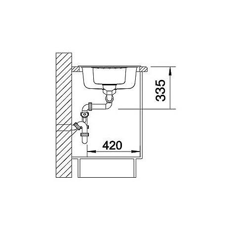 1514748 zia 6 s antracite blanco lavello 100x50 2 vasche reversibile silgranit sopratop