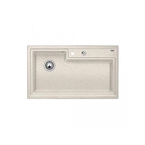 1514778 plenta sabbia blanco lavello 86x50 1 vasca senza sgocciolatoio silgranit sopratop