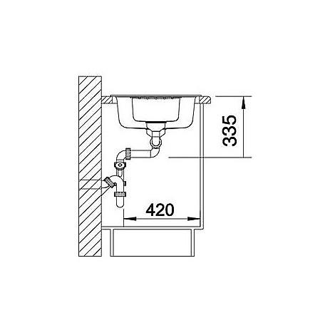 1515072 zia 6 s caffè blanco lavello 100x50 2 vasche reversibile silgranit sopratop
