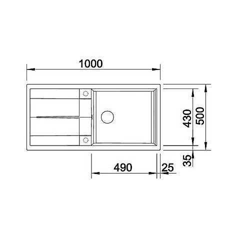1515135 metra xl 6 s blanco lavello 100x50 1 vasca reversibile silgranit alumetallic