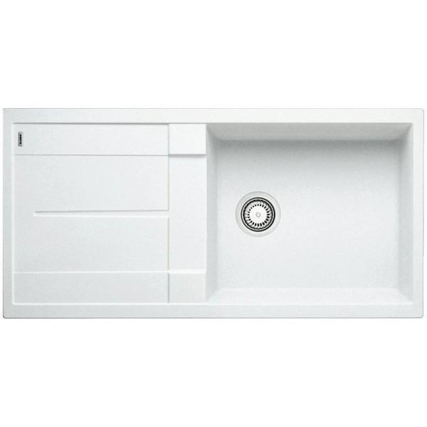 1515136 metra xl 6 s bianco blanco lavello 100x50 1 vasca reversibile silgranit