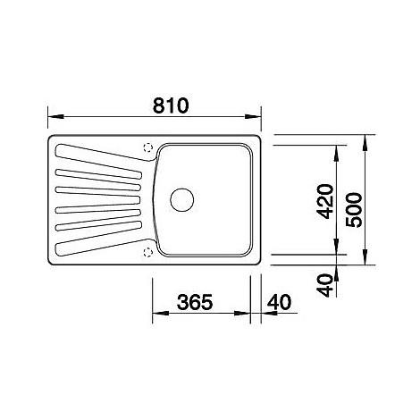 1515197 nova 45 s grigio seta blanco lavello 81x50 1 vasca reversibile silgranit