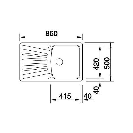 1515200 nova 5 s grigio seta blanco lavello 86x50 1 vasca reversibile silgranit
