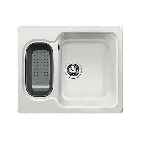 1515202 nova 6 grigio seta blanco lavello 62x50 2 vasche senza sgocciolatoio silgranit