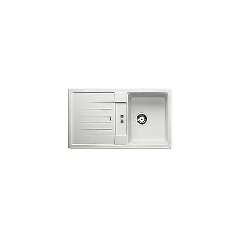 1515239 lexa 45 s grigio seta blanco lavello 86x50 1 vasca reversibile silgranit