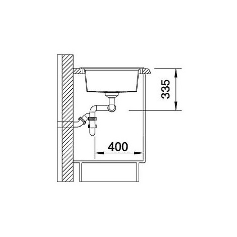 1515243 lexa 8 grigio seta blanco lavello 78x50 2 vasche senza sgocciolatoio silgranit