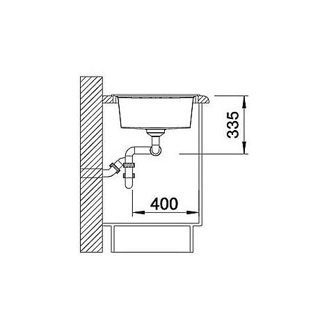 1515245 lexa 8 s grigio seta blanco lavello 116x50 2 vasche reversibile silgranit