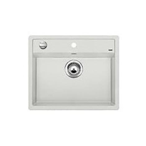 1515248 dalago 6 grigio seta blanco lavello 62x51 1 vasca senza sgocciolatoio silgranit sopratop