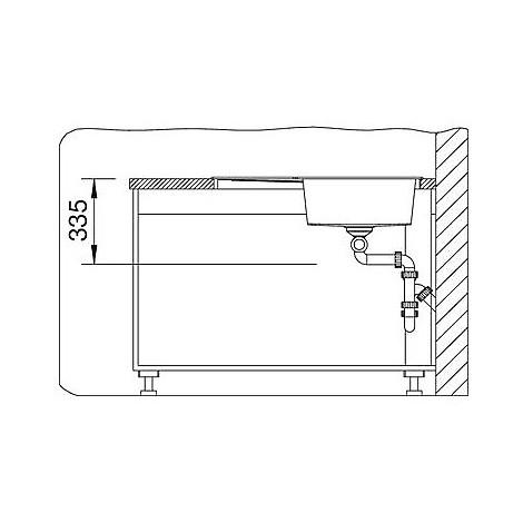 1515567 metra 9 e alumetallic blanco lavello 83x83 2 vasche angolare silgranit
