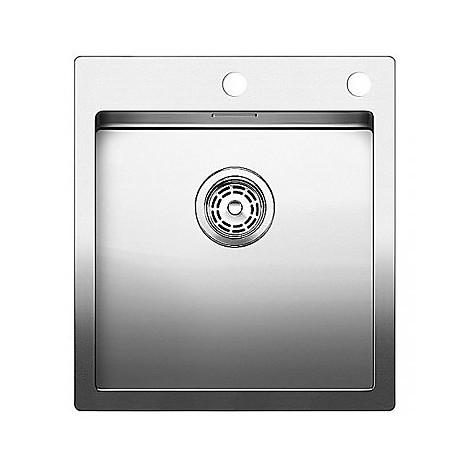 1515642 claron 400-if/a blanco lavello 46x51 1 vasca senza sgocciolatoio inox satinato
