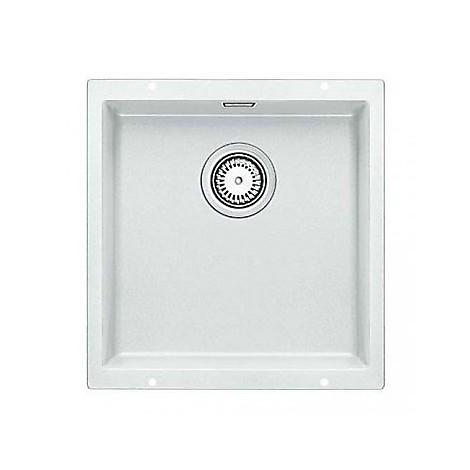 1515754 subline 400-u bianco blanco lavello 43x46 1 vasca senza sgocciolatoio silgranit sottotop