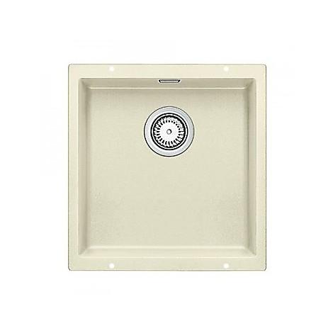 1515755 subline 400-u jasmine blanco lavello 43x46 1 vasca senza sgocciolatoio silgranit sottotop