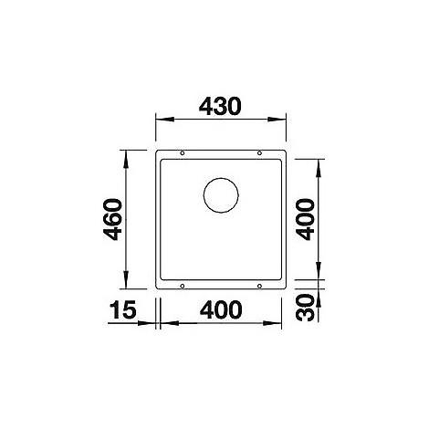 1515757 subline 400-u sabbia blanco lavello 43x46 1 vasca senza sgocciolatoio silgranit sottotop