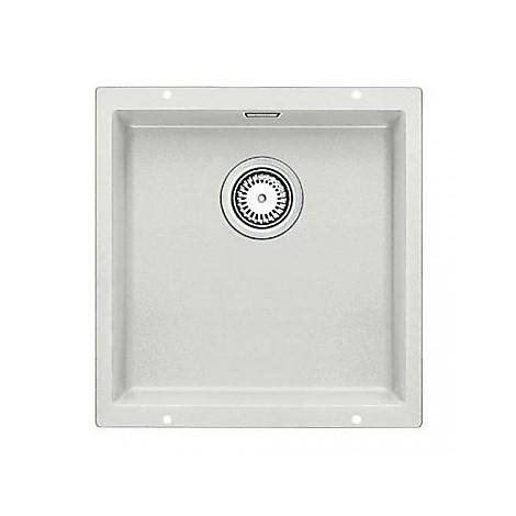 1515760 subline 400-u blanco lavello 43x46 1 vasca senza sgocciolatoio silgranit grigio seta
