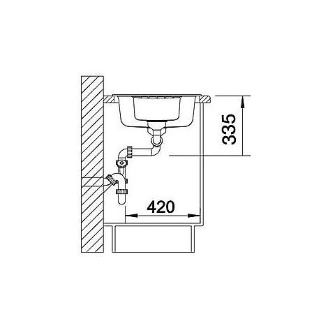 1515903 zia 6 s avana blanco lavello 100x50 2 vasche reversibile silgranit sopratop