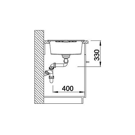 1515904 zia 8 s avana blanco lavello 116x50 2 vasche reversibile silgranit sopratop