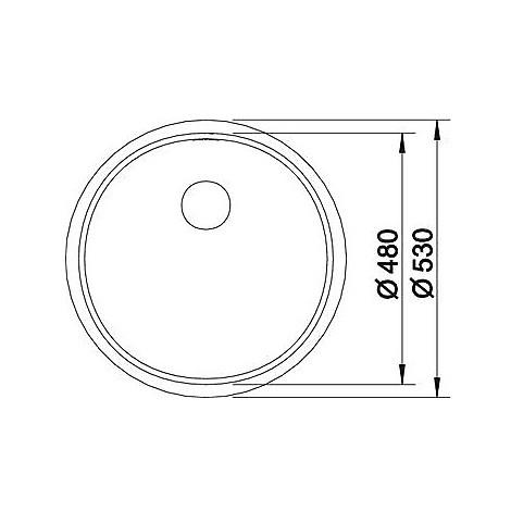 1515919 ronis-if blanco lavello diametro 53 1 vasca circolare inox satinato
