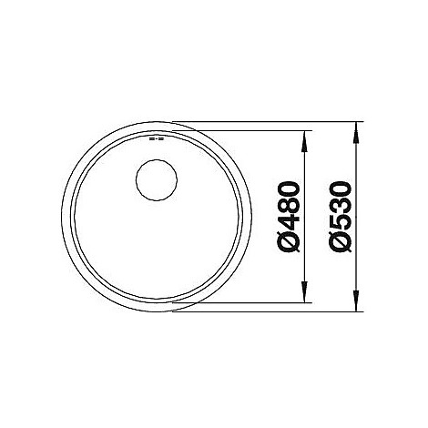 1515920 ronis-u blanco lavello diametro 53 1 vasca circolare inox satinato