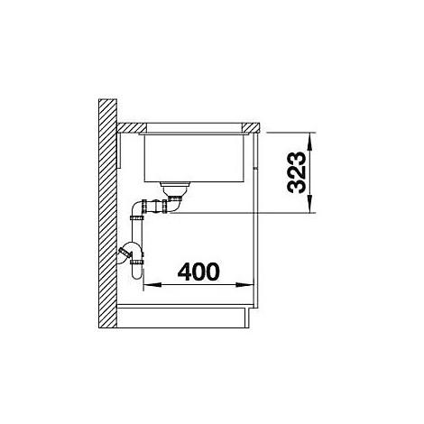 1516290 subline 350/350-u blanco lavello 76x46 2 vasche senza sgocciolatoio silgranit sabbia