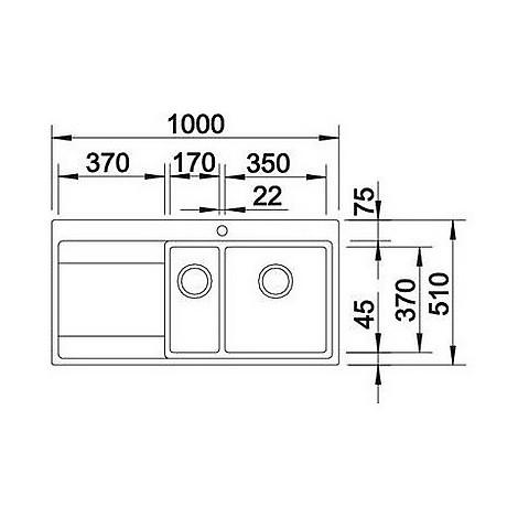 1516390 divon 6 s-if blanco lavello 86x51 2 vasche sgocciolatoio a destra inox satinato