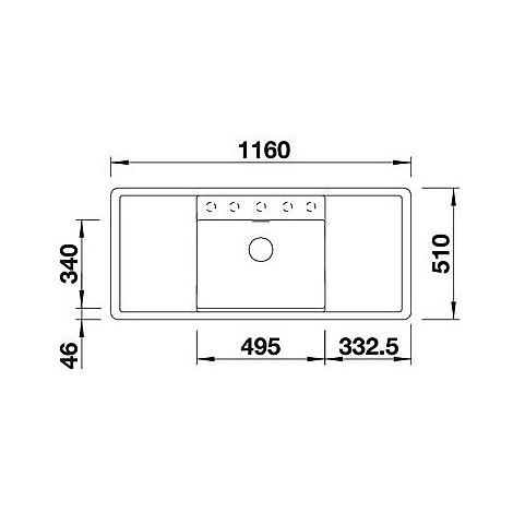 1516559 alaros 6 s nero blanco lavello 116x51 1 vasca sgocciolatoio dx e sx silgranit grigio set